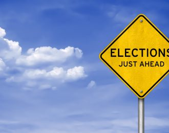 Elections Ahead Sign (2)